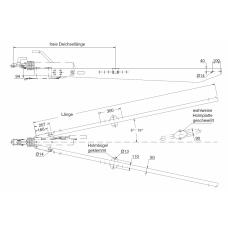 Дышло,SV 35, 3000 - 3500 kg, 2800 mm, для V-образного соединения