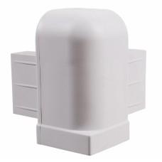 Угол крышки 100мм высота, серый, пластик