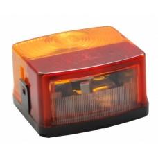 Трехкамерный фонарь прицепа правый Hella с подсветкой номера 60046