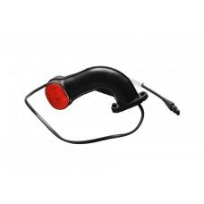 Контурно-габаритный фонарь красно-белый на резиновом кронштейне (рожке) Aspock Superpoint II 10608