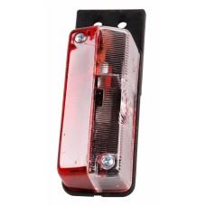 Контурно-габаритный боковой фонарь красно-белый на кронштейне Proplast 10533
