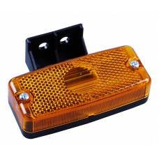 Боковой оранжевый контурно-габаритный фонарь, с отражателем, на пластиковом кронштейне Jokon 10413