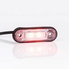 Фонарь габаритный красный с проводом Fristom FT-015 C LED