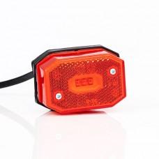 Фонарь габаритный красный со светоотражателем и проводом Fristom FT-001 C LED