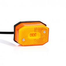 Фонарь габаритный желтый со светоотражателем и проводом Fristom FT-001 Z LED