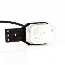 Фонарь габаритный белый со светоотражателем кронштейном и проводом FRISTOM FT-001 B II LED