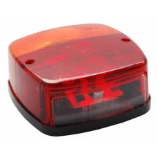 Трехкамерный фонарь правый Geka с подсветкой номерного знака 10871