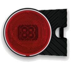 Фонарь габаритный Fristom FT-060 L C+K LED левый красный со светоотражателем кронштейном и проводом