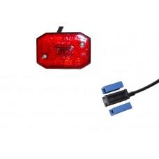 Задний красный контурно-габаритный фонарь с отражателем Aspock Flexipoint I Rot 10592