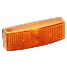 Боковой контурно-габаритный фонарь прицепа с отражателем желтый Hella 60040