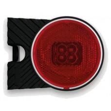 Фонарь габаритный Fristom FT-060 P C+K LED правый красный со светоотражателем кронштейном и проводом