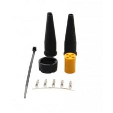 Байонетный коннектор левый 5pin Aspock Bajonettverbinder 5 Polig 10099