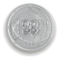 Фонарь габаритный Fristom FT-060 B LED белый со светоотражателем и проводом