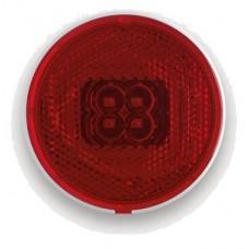 Фонарь габаритный Fristom FT-060 C LED красный со светоотражателем и проводом