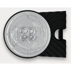 Фонарь габаритный Fristom FT-060L B+K LED левый белый со светоотражателем, кронштейном и проводом