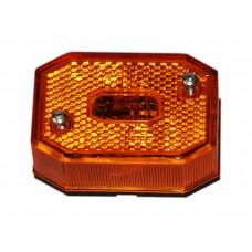 Боковой оранжевый контурно-габаритный фонарь с отражателем Aspock Flexipoint I 10570