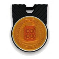 Фонарь габаритный Fristom FT-060 Z+K LED желтый со светоотражателем кронштейном и проводом