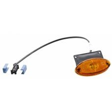 Боковой оранжевый контурно-габаритный фонарь с отражателем на кронштейне Aspock Flatpoint II Led 10677