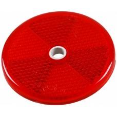 Катафот красный 60 мм под заклепку Aspock Rückstrahler Round 60mm 10210