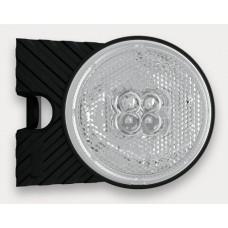 Фонарь габаритный Fristom FT-060P B+K LED правый белый со светоотражателем, кронштейном и проводом