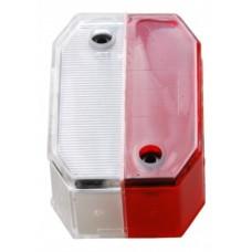 Запасное стекло Aspock Flexipoint I Rot/Weiss Cover Lens 10526 для фонарей 10525, 10527, 10528, 105280