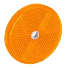Светоотражатель Fristom желтый 60 мм с отверстием DOB-033 Z