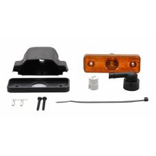 Боковой оранжевый контурно-габаритный фонарь с отражателем на кронштейне Aspock Flatpoint I Led 10690