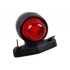 Контурно-габаритный фонарь красно-белый,на резиновом кронштейне (рожке) Proplast 10531