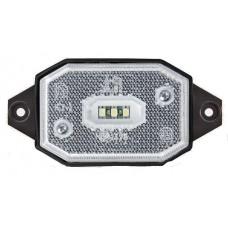 Фонарь габаритный Fristom FT-001 B III LED белый со светоотражателем кронштейном и проводом