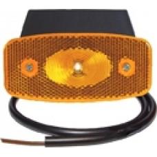 Боковой оранжевый контурно-габаритный фонарь Aspock LED с отражателем на кронштейне 104920