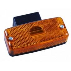 Боковой оранжевый контурно-габаритный фонарь Jokon с отражателем на угловом пластиковом кронштейне 10412