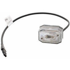 Передний белый контурно-габаритный фонарь с проводом Aspock Flexipoint I 10506