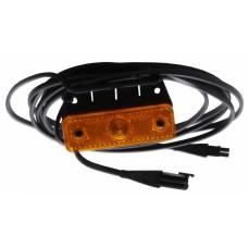 Боковой оранжевый контурно-габаритный фонарь с отражателем на кронштейне Aspock Sidepoint 10547