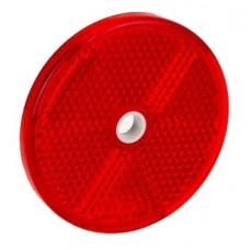 Светоотражатель Fristom красный 60мм с отверстием DOB-033 C
